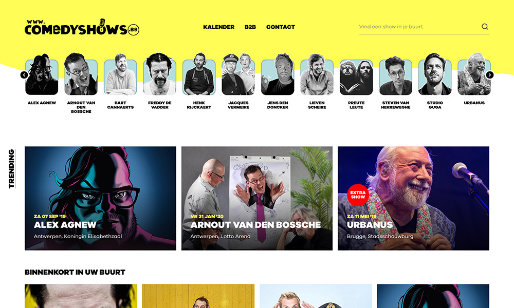 Website Comedyshows.be